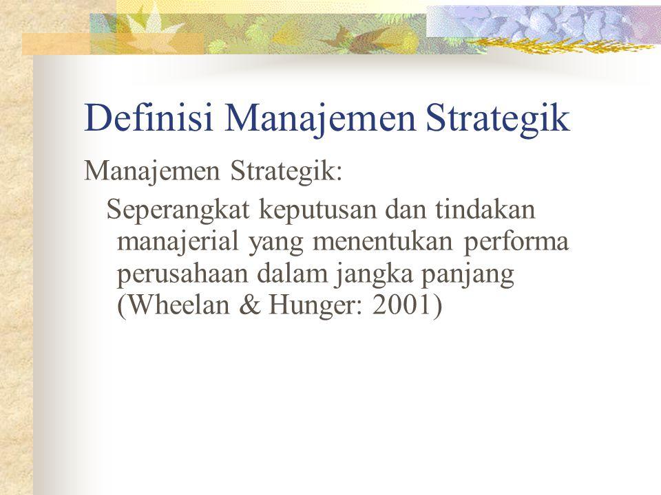 Definisi Manajemen Strategik