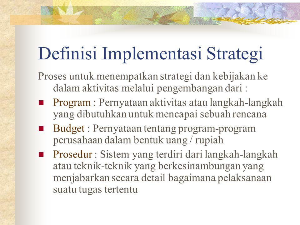 Definisi Implementasi Strategi