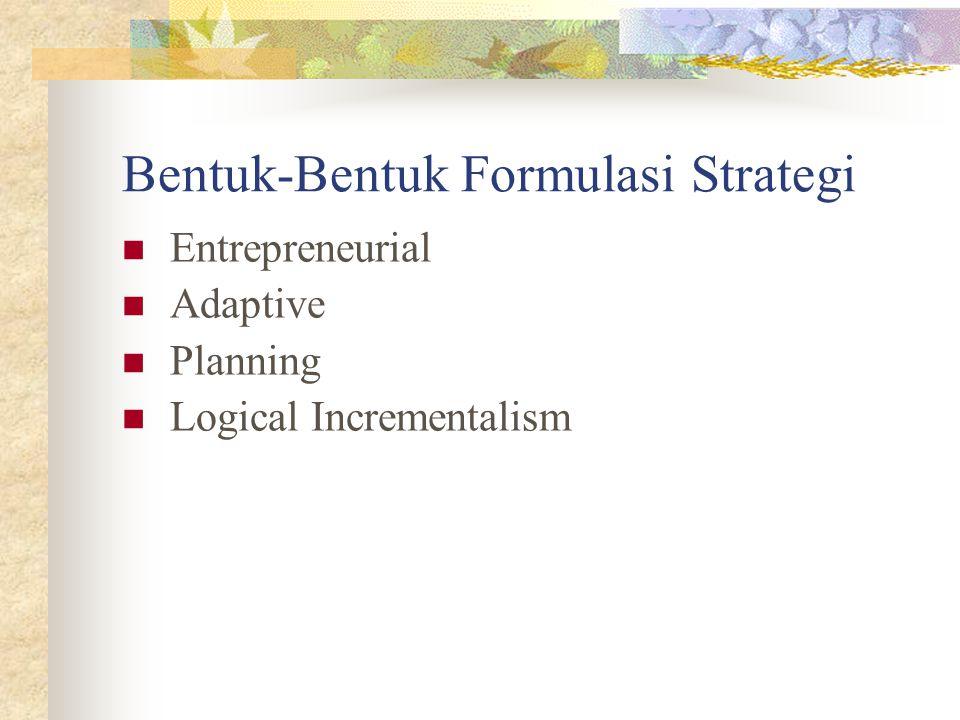 Bentuk-Bentuk Formulasi Strategi