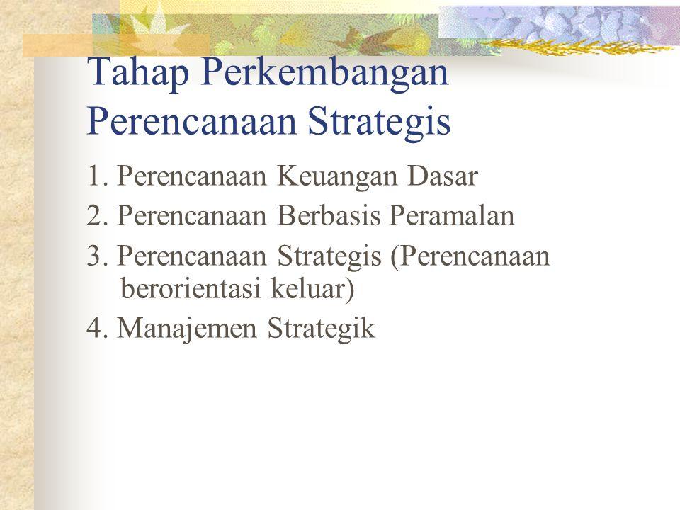 Tahap Perkembangan Perencanaan Strategis