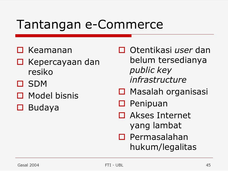 Tantangan e-Commerce Keamanan Kepercayaan dan resiko SDM Model bisnis