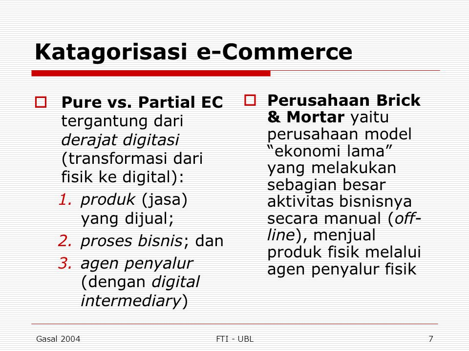 Katagorisasi e-Commerce