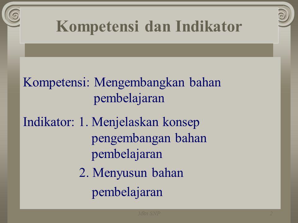 Kompetensi dan Indikator