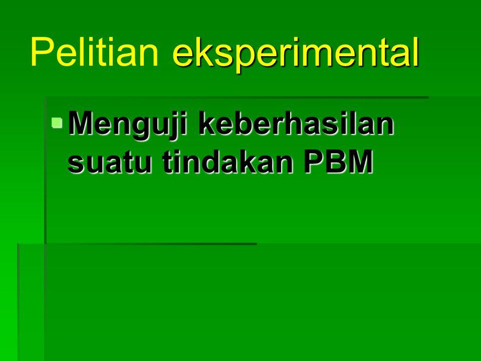 Pelitian eksperimental