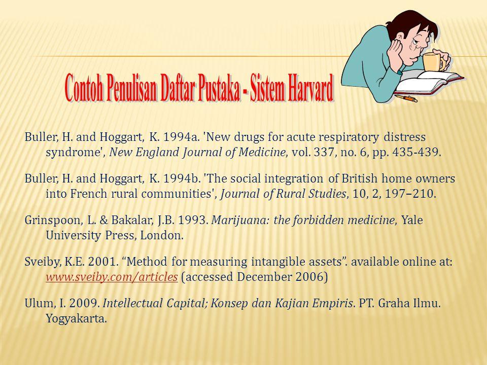 Contoh Penulisan Daftar Pustaka - Sistem Harvard