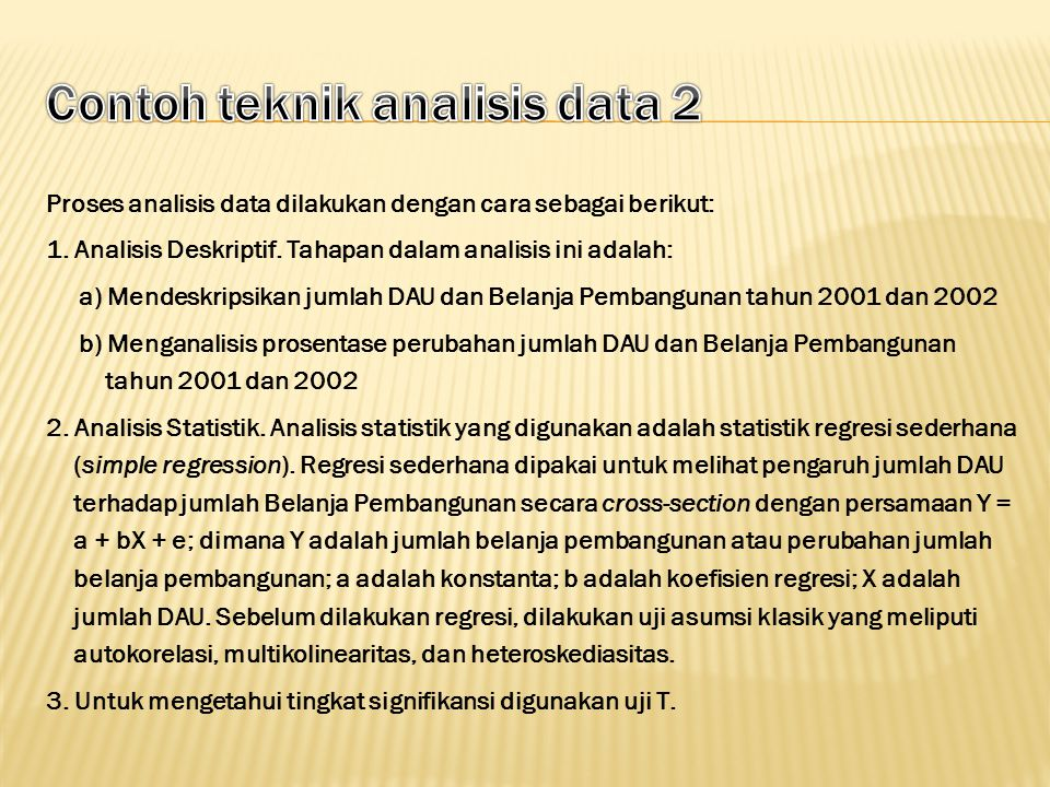 Contoh teknik analisis data 2