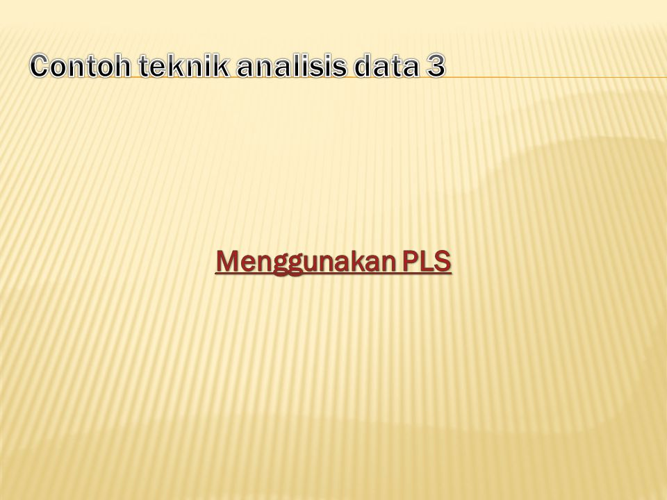 Contoh teknik analisis data 3