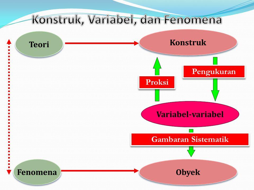 Konstruk, Variabel, dan Fenomena