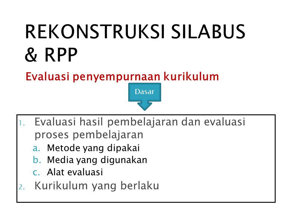 REKONSTRUKSI SILABUS & RPP