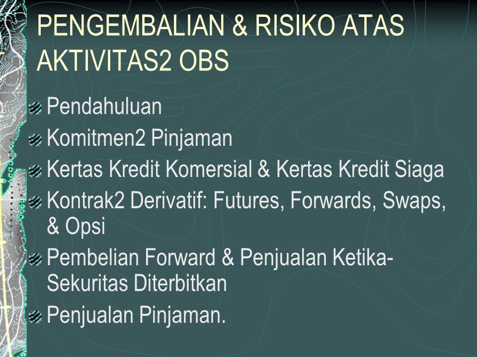 PENGEMBALIAN & RISIKO ATAS AKTIVITAS2 OBS