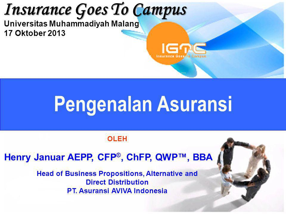 Pengenalan Asuransi Insurance Goes To Campus