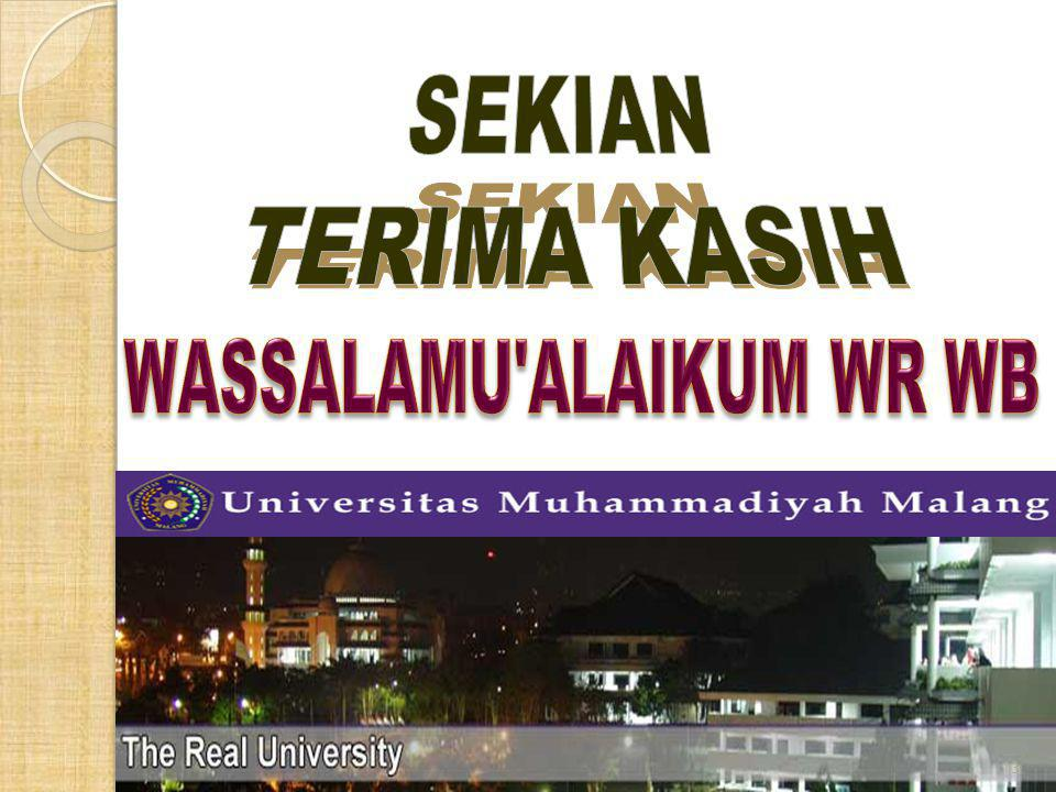 WASSALAMU ALAIKUM WR WB