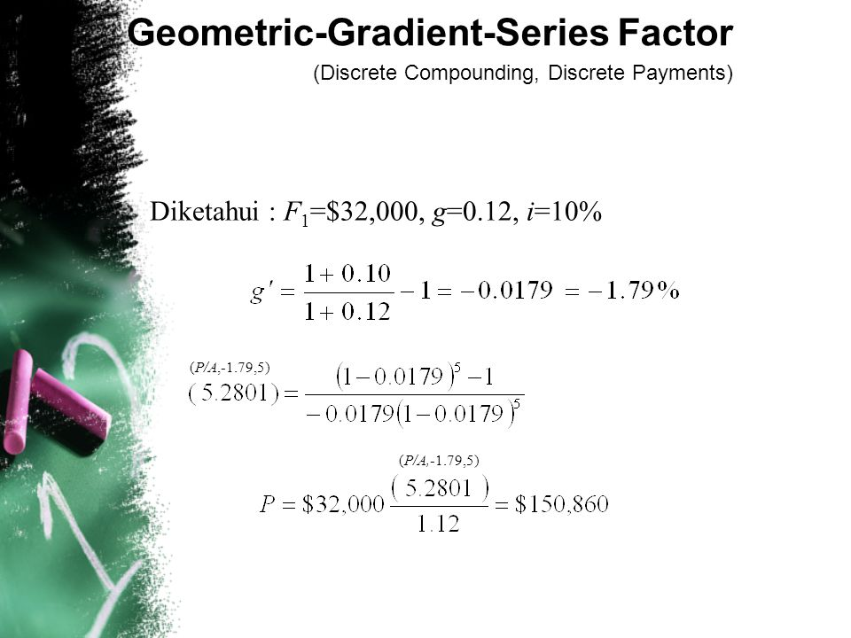 Geometric-Gradient-Series Factor