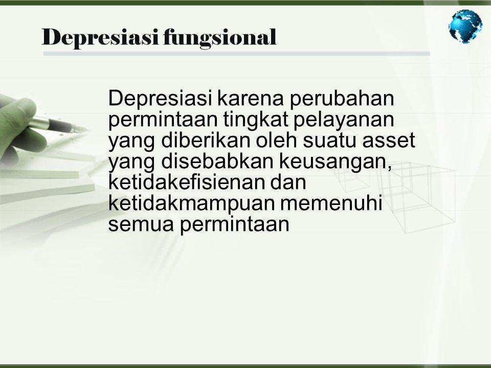 Depresiasi fungsional