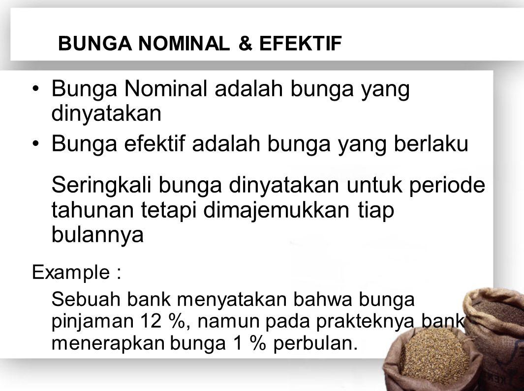 BUNGA NOMINAL & EFEKTIF