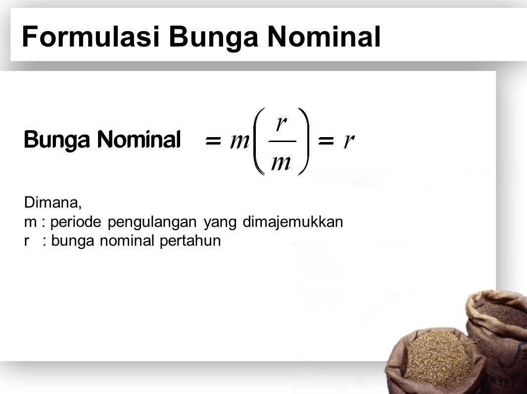 Formulasi Bunga Nominal