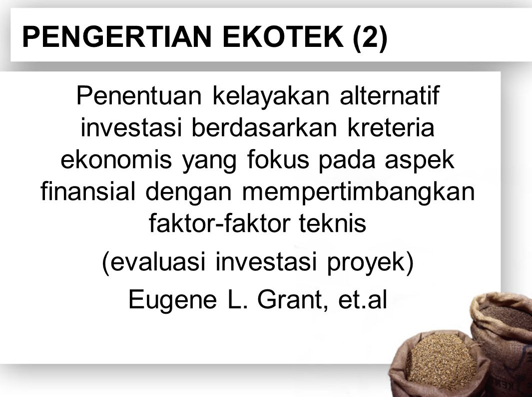 PENGERTIAN EKOTEK (2)