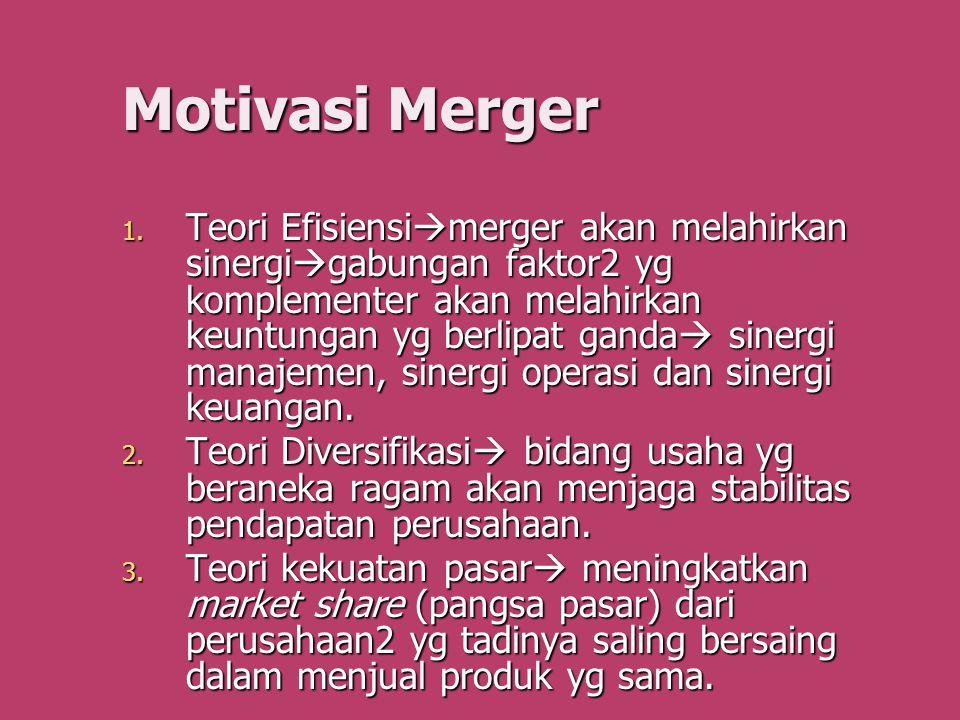 Motivasi Merger