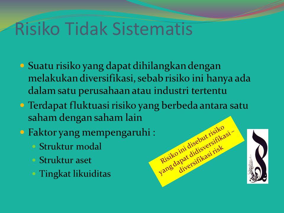 Risiko Tidak Sistematis