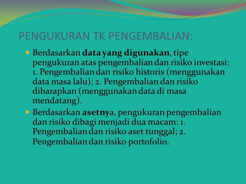 PENGUKURAN TK PENGEMBALIAN: