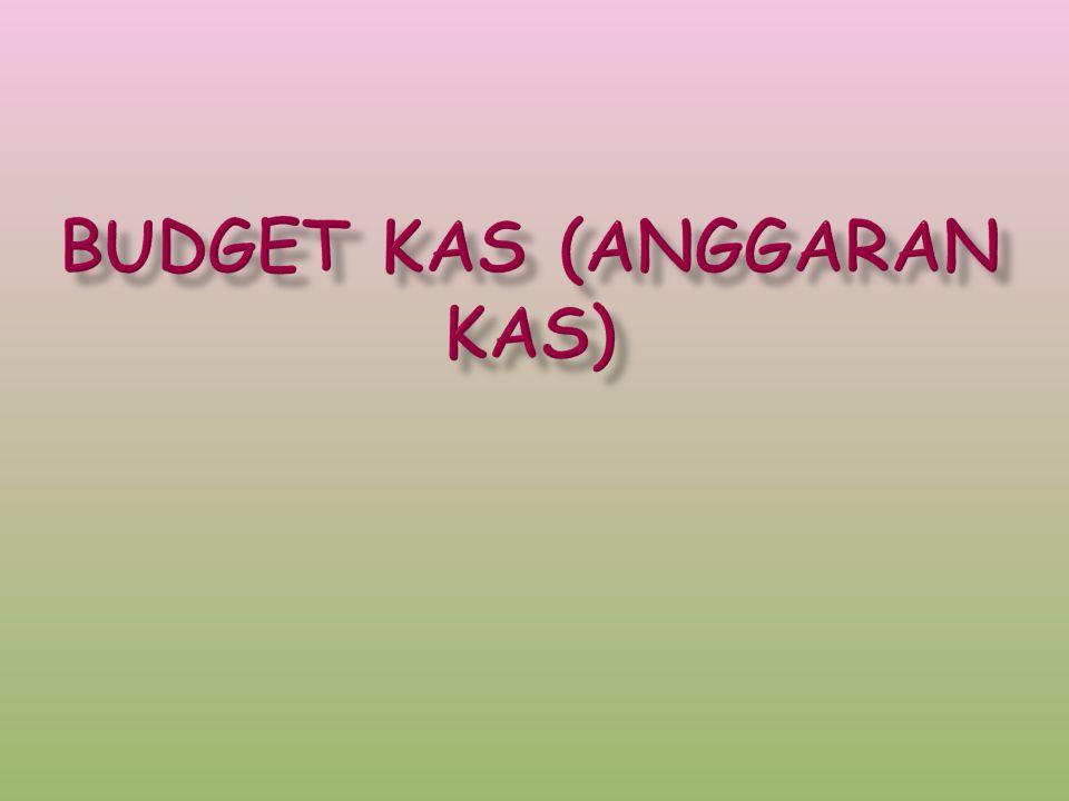 Budget kas (Anggaran kas)