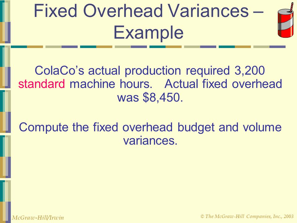 Fixed Overhead Variances – Example