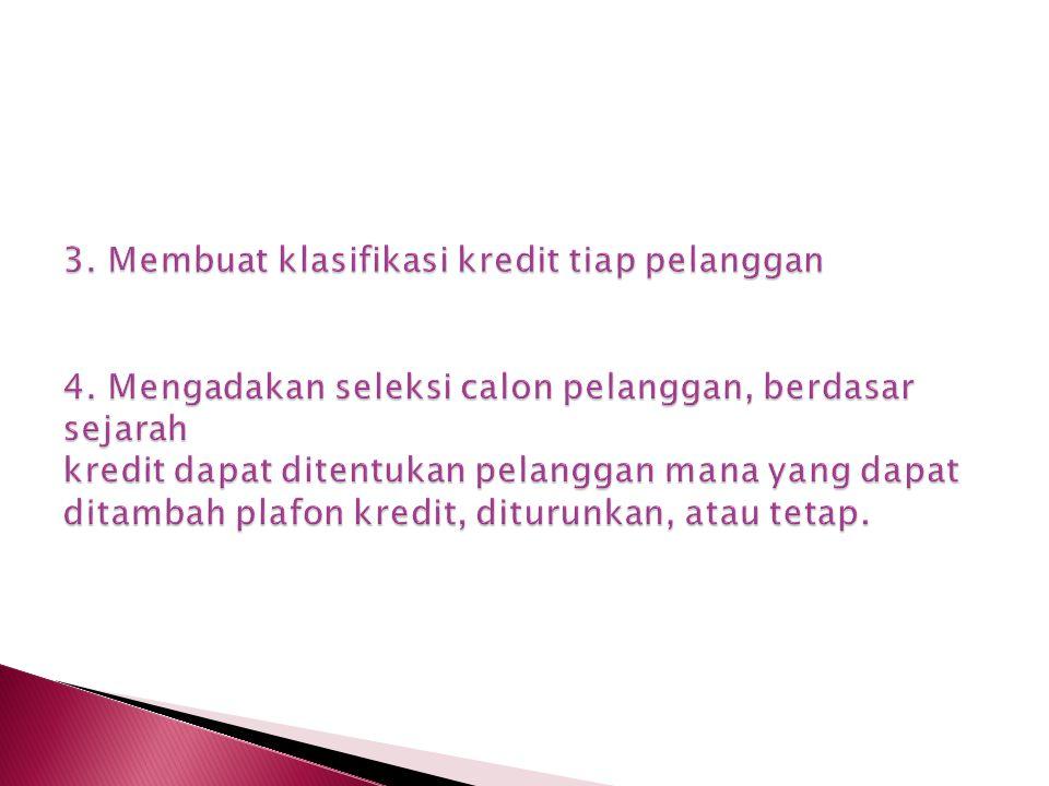 3. Membuat klasifikasi kredit tiap pelanggan 4