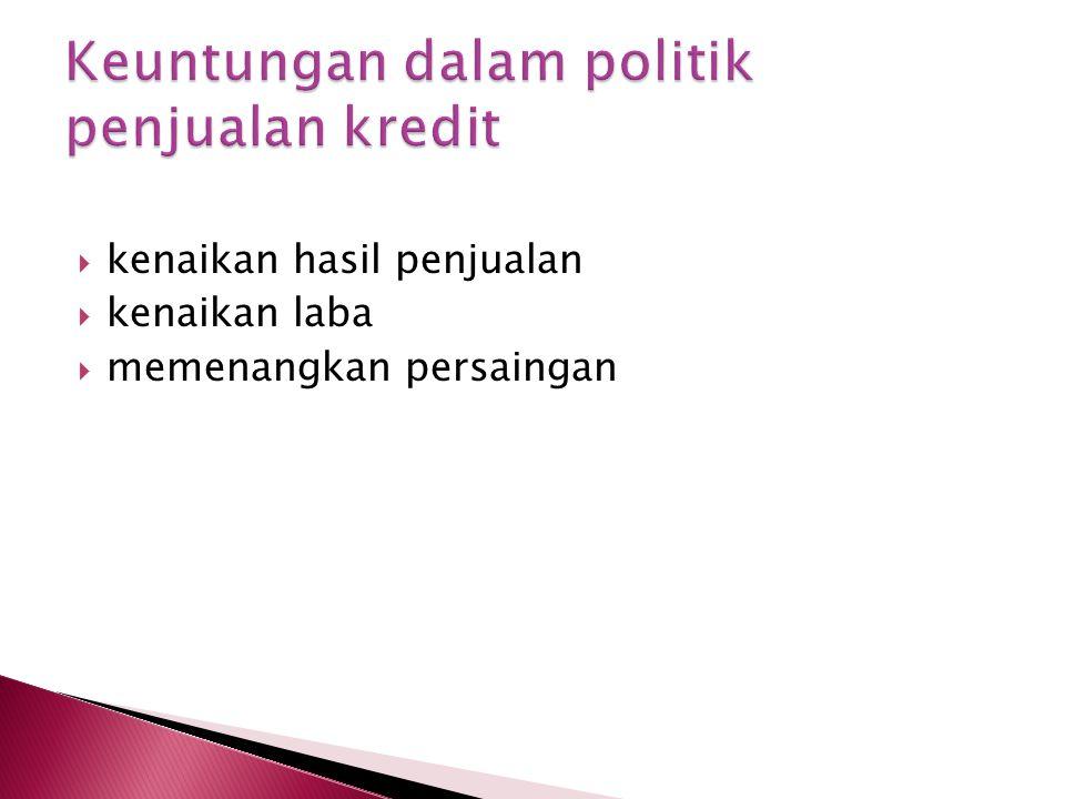 Keuntungan dalam politik penjualan kredit
