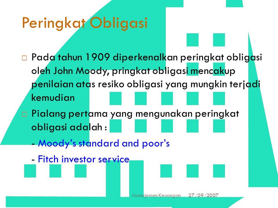Peringkat Obligasi