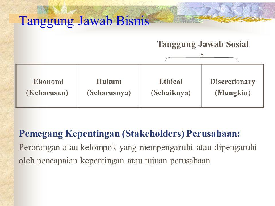 Tanggung Jawab Bisnis Pemegang Kepentingan (Stakeholders) Perusahaan: