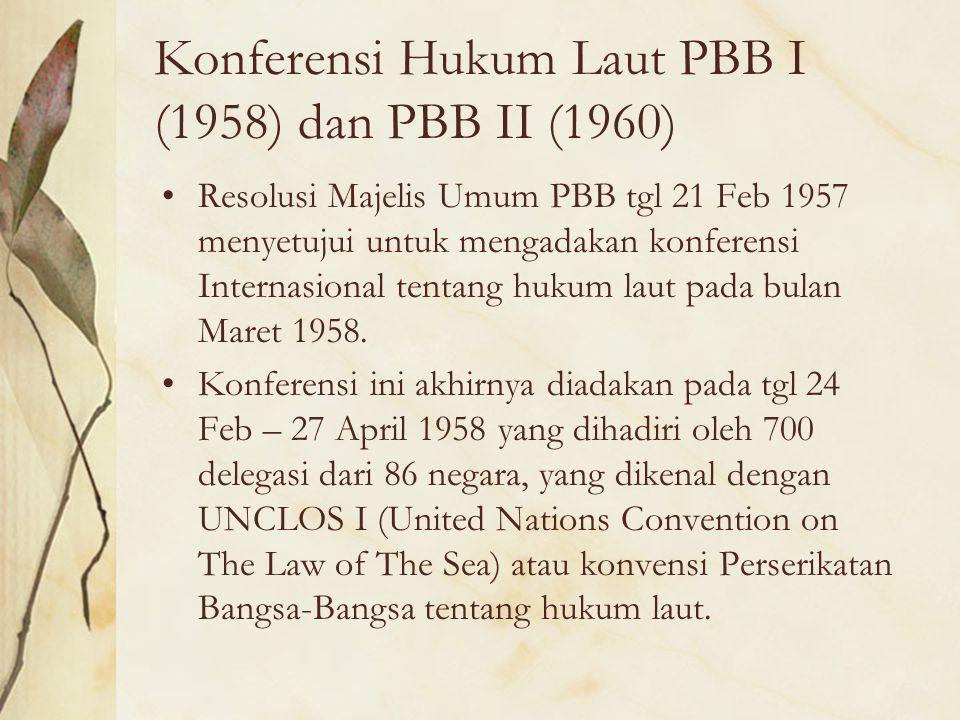 Konferensi Hukum Laut PBB I (1958) dan PBB II (1960)