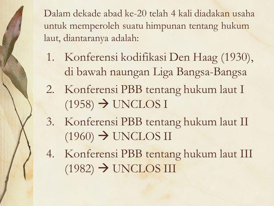 Konferensi PBB tentang hukum laut I (1958)  UNCLOS I