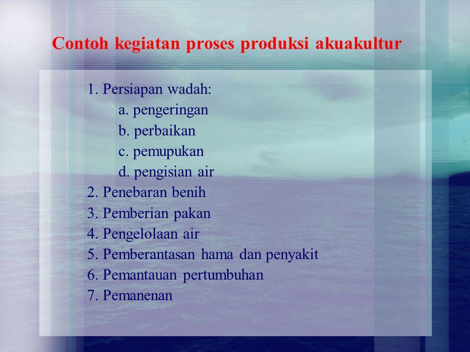 Contoh kegiatan proses produksi akuakultur
