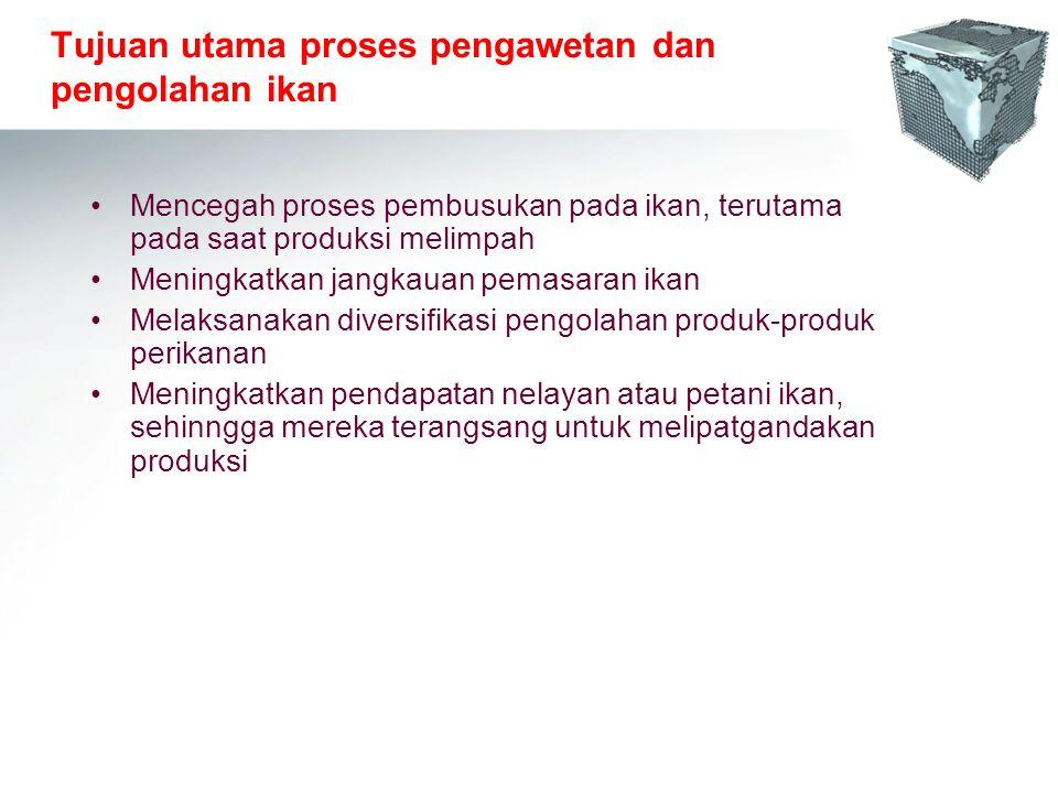 Tujuan utama proses pengawetan dan pengolahan ikan