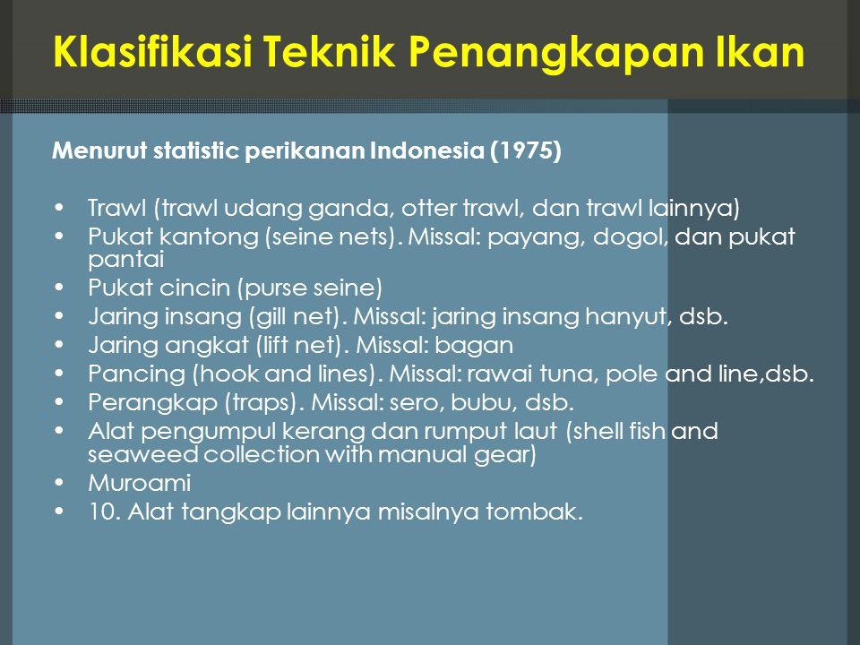 Klasifikasi Teknik Penangkapan Ikan