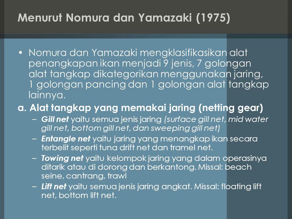 Menurut Nomura dan Yamazaki (1975)