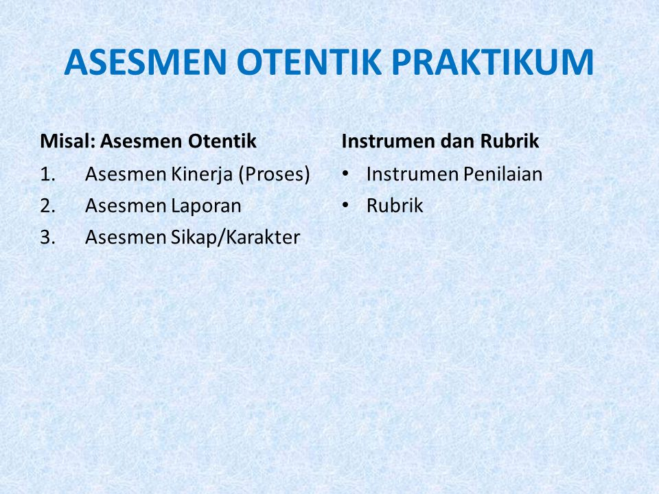 ASESMEN OTENTIK PRAKTIKUM