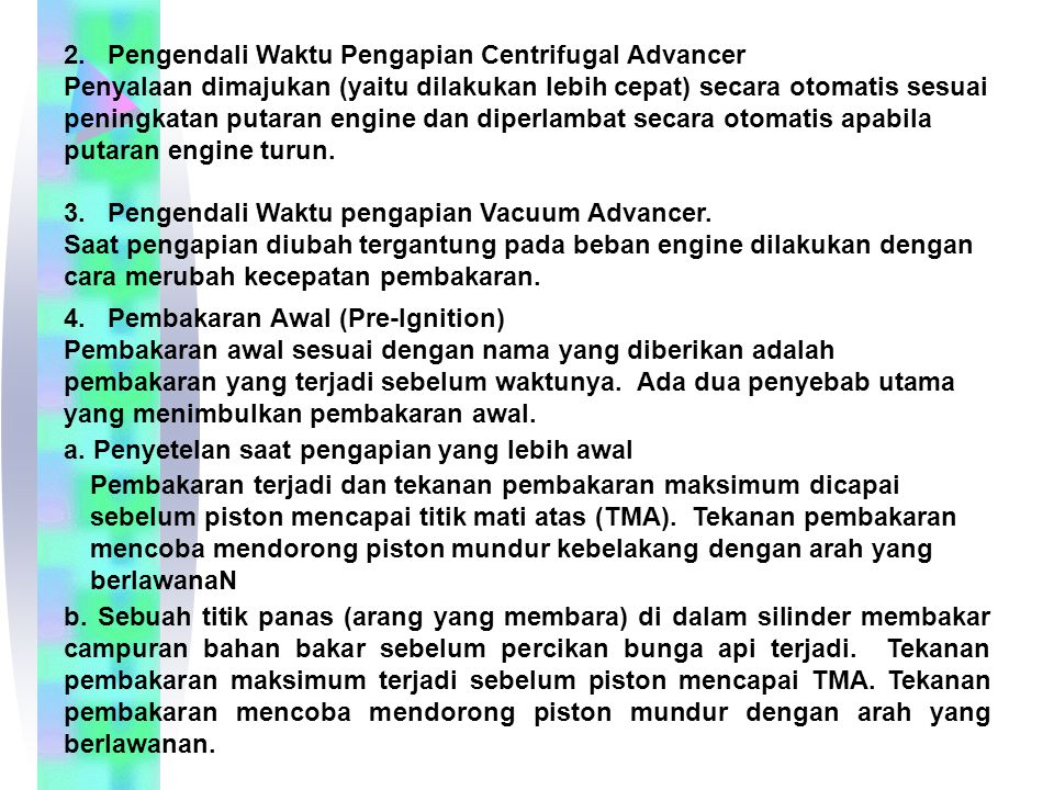 2. Pengendali Waktu Pengapian Centrifugal Advancer
