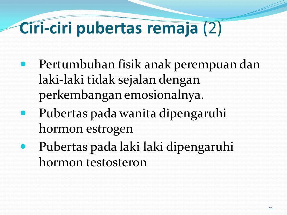 Ciri-ciri pubertas remaja (2)
