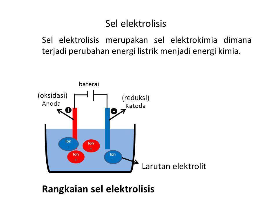 Rangkaian sel elektrolisis