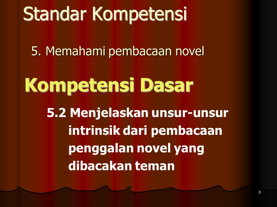 5. Memahami pembacaan novel