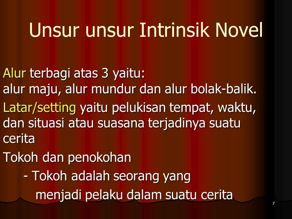 Unsur unsur Intrinsik Novel
