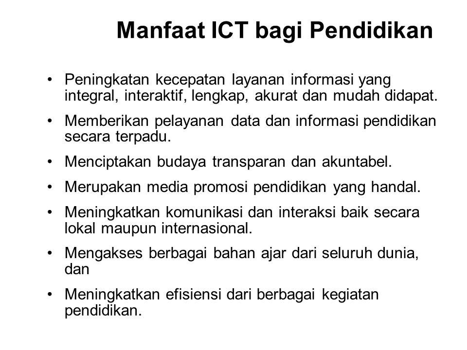 Manfaat ICT bagi Pendidikan