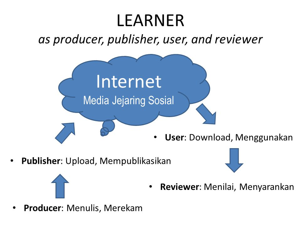 LEARNER as producer, publisher, user, and reviewer