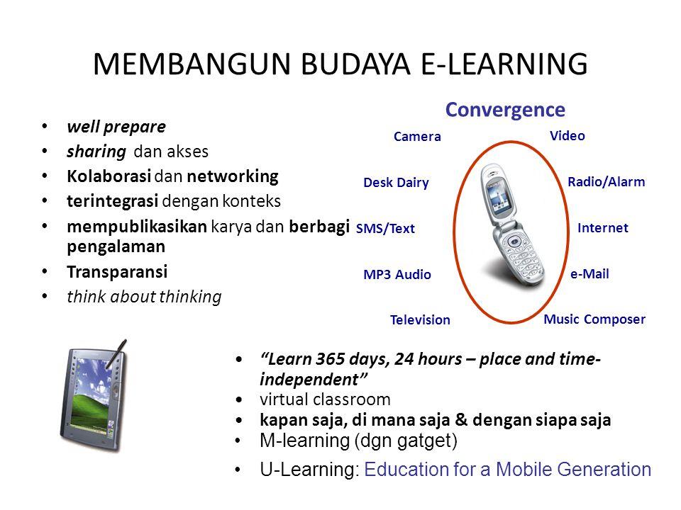 MEMBANGUN BUDAYA E-LEARNING