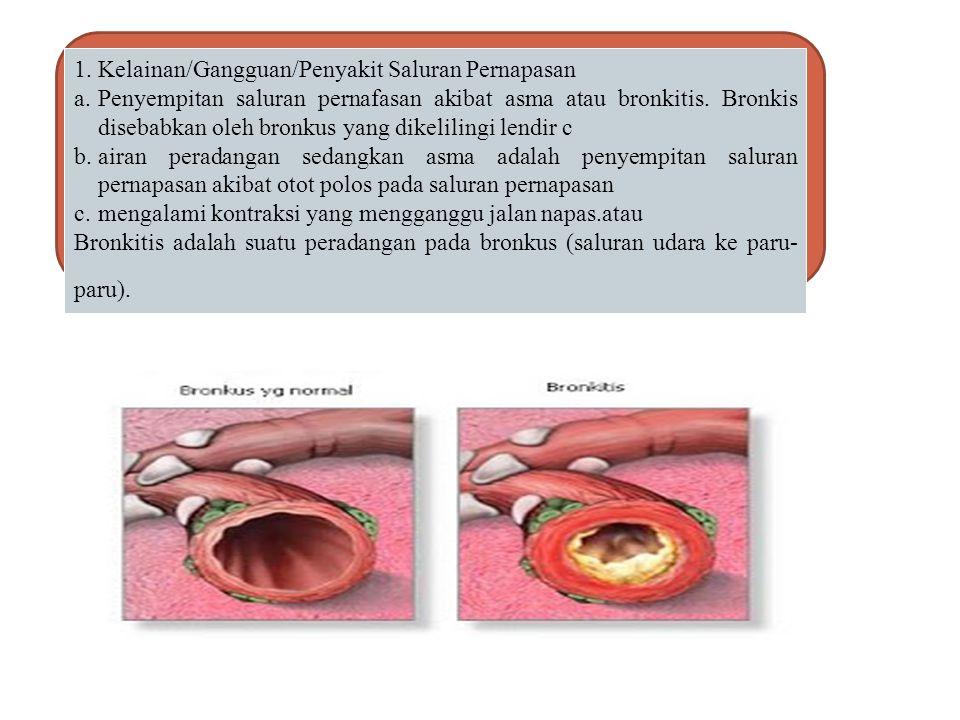 1. Kelainan/Gangguan/Penyakit Saluran Pernapasan
