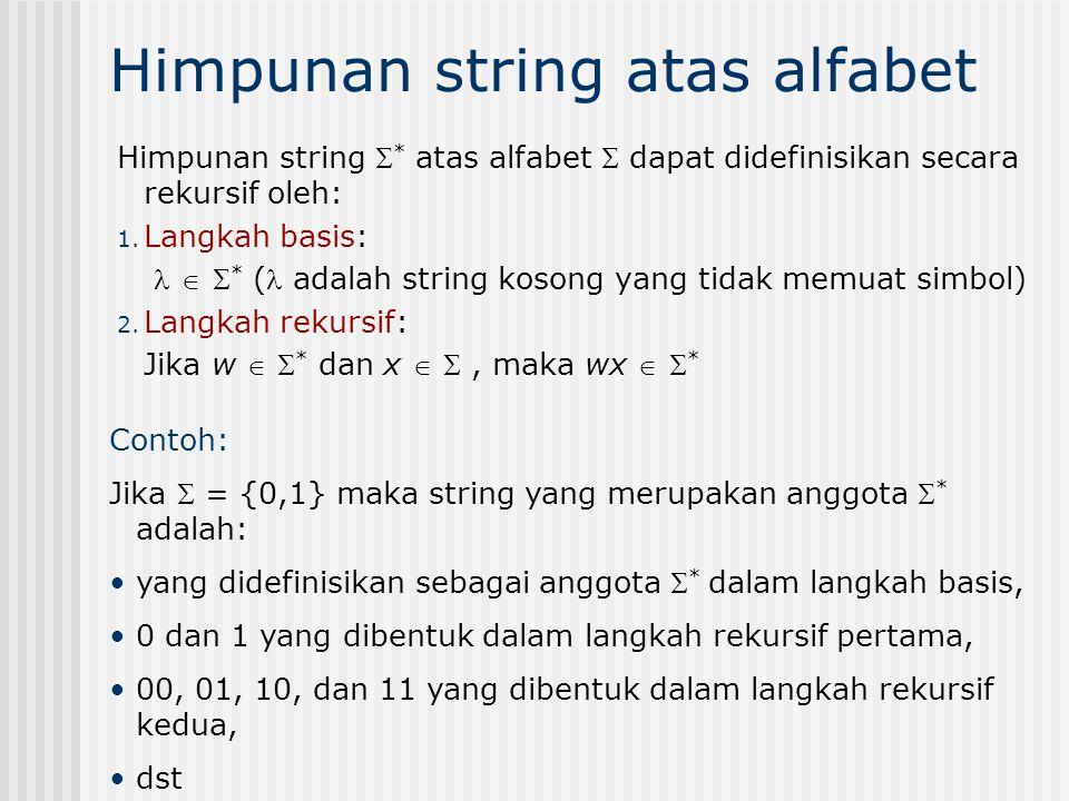 Himpunan string atas alfabet
