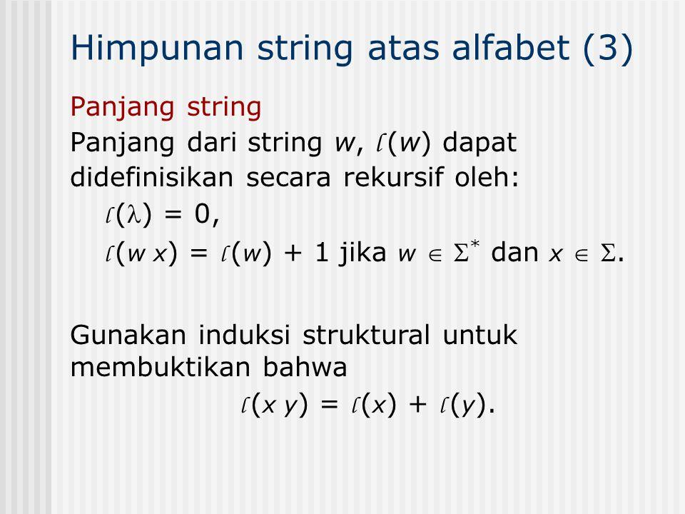 Himpunan string atas alfabet (3)