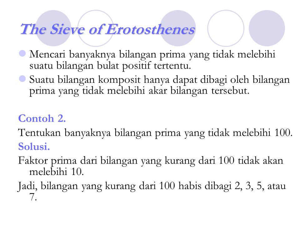 The Sieve of Erotosthenes