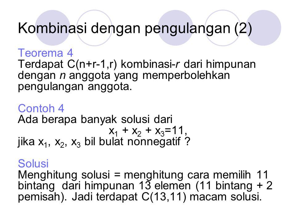 Kombinasi dengan pengulangan (2)